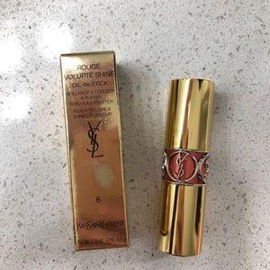 YSL rogue volupte shine lipstick #6 Pink Safari